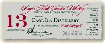 Tasting Coal Ila 1995 bottled by A.D Rattray