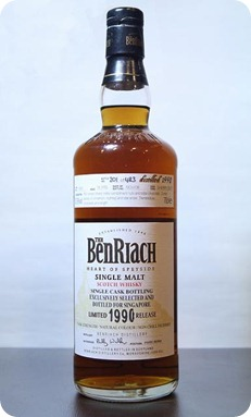 Tasting The Benriach 1990 Single Cask # 3805 for Singapore