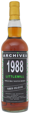"Tasting Littlemill 1988 , 23yo –  ""Archives"""