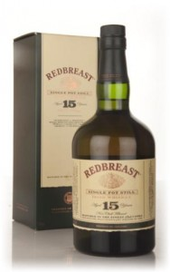 More Irish Single Pot Still : Redbreast 15 yo