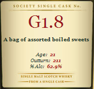 SMWS G1.8 – 'A bag of assorted boiled sweets' Single Grain