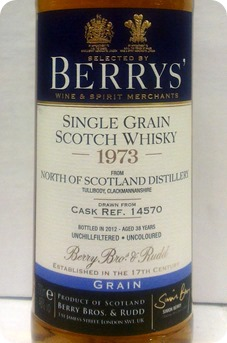 Berry's Own North of Scotland 1973 cask #14570 [single grain]