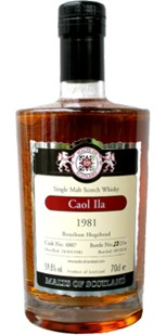 Caol Ila 1981 [Malts of Scotland]Cask #4807 – Review