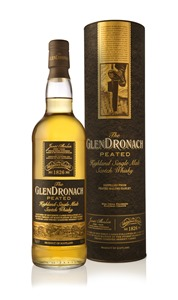 GlenDronach Peated - bottle in front of tube LR