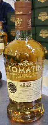 Tomatin 2006 vintage – The Cyprus Whisky Assoc. Cask # 4191
