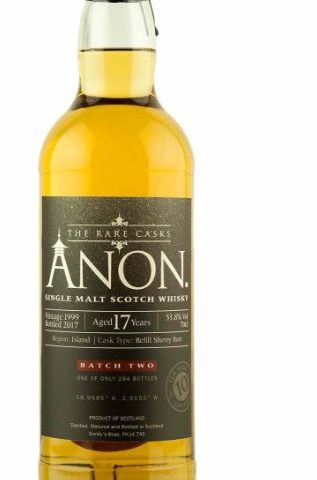 Anon. Batch #2 – 17 yo, peated from Orkney  – Abbey Whisky 10th Anniversary
