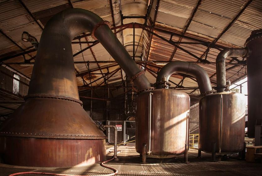 Hampden dsitillery pot stills